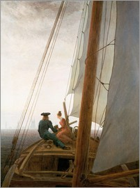 Caspar David Friedrich - On the Sailing ship
