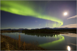 Joseph Bradley - Aurora Borealis over the Yukon River