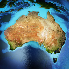 Australia from space, NASA