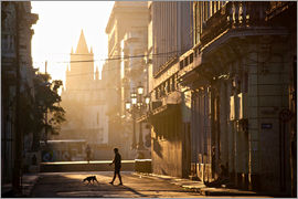 Lee Frost - Backlit street at dawn, Havana