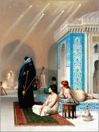 Jean Leon Gerome - Bad in the harem