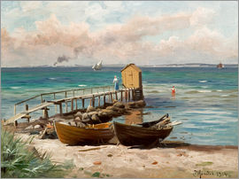 Peder Mork Mönsted - Bathing huts on the beach