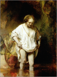 Rembrandt van Rijn - Woman Bathing in a Stream