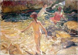 Joaquin Sorolla y Bastida - Children Bathing