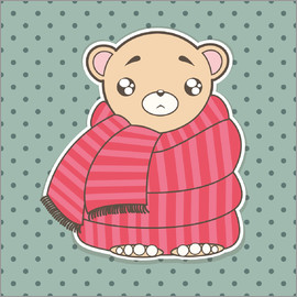 Kidz Collection - Bear with scarf