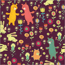 Kidz Collection - Little Bears and flowers