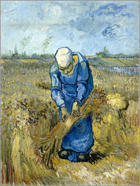 Vincent van Gogh - Peasant woman binding sheaves