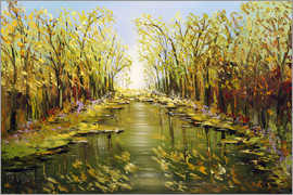 Theheartofart Gena - Trees by the river