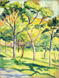August Macke - Trees on a lawn