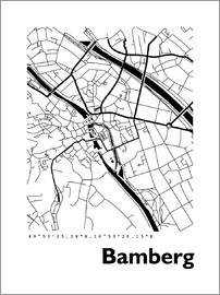 44spaces - Bamberg city map HF