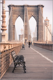 Amanda Hall - Banc sur le pont de Brooklyn
