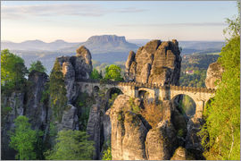 Michael Valjak - Bastei Bridge in Saxon Switzerland in the morning