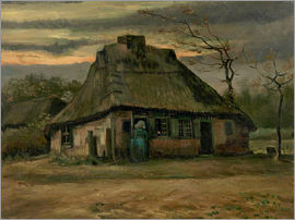 Vincent van Gogh - Farmhouse with woman and goat