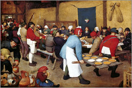 Pieter Brueghel d.Ä. - Peasant Wedding, around 1568