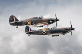 airpowerart - BBMF SPit and Hurry