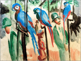 August Macke - Among the parrots