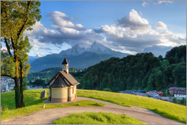 Michael Valjak - Berchtesgaden Chapel at Lockstein in evening light