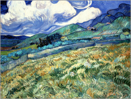 Vincent van Gogh - Mountain landscape behind the Hospital Saint-Paul