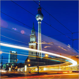 Alexander Voss - Berlin - TV Tower / Light Trails