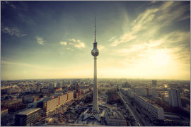 Berlin Panorama in Vintage