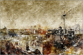 Michael artefacti - Berlin skyline abstract
