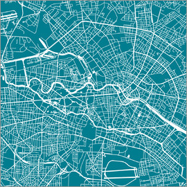 44spaces - BERLIN CITY MAP Q teal