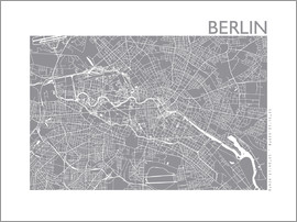 44spaces - BERLIN CITY MAP slate