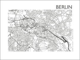 44spaces - BERLIN CITY MAP steelgrey