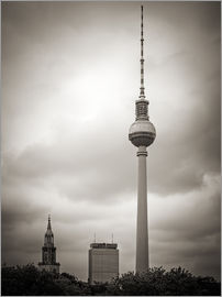 Alexander Voss - Berlin TV Tower (Black and White Photography)