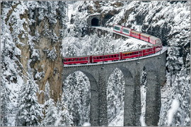 Roberto Sysa Moiola - Bernina Express Train, Filisur, Switzerland