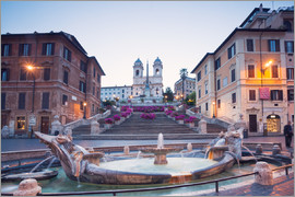 Matteo Colombo - Famous Spanish Steps with Bernini fountain, Rome, Italy