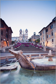 Matteo Colombo - Famous Spanish Steps and Bernini fountain, Rome, Italy