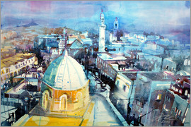 Johann Pickl - Bethlehem, view from the Syrian Orthodox Church