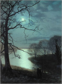 John Atkinson Grimshaw - Watching a Moonlit Lake