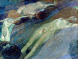 Gustav Klimt - moving water