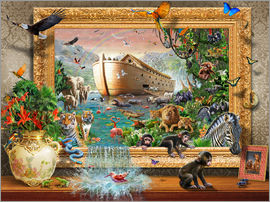 Adrian Chesterman - Noah's Ark Framed