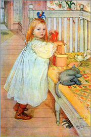 Carl Larsson - Birgit loves the art