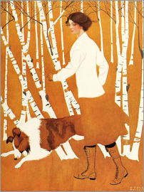 Clarence Coles Phillips - Birches