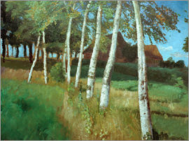 Otto Modersohn - Birches in the marsh