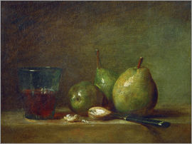 Jean Simeon Chardin - Pears, nuts, and a cup of wine