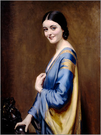 Albert Henry Collings - Blue, golden dress