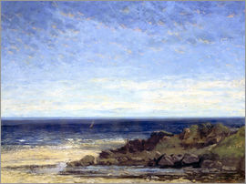 Gustave Courbet - Blue sea - blue sky