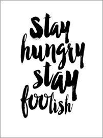 Dani Jay - Stay Hungry Stay Foolish Typograpy