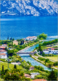 View of Lake Garda in Northern Italy
