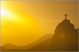 Michael Runkel - View from the Sugarloaf of Christ the Redeemer statue on Corcovado, Rio de Janeiro, Brazil, South Am