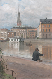 Alfred Bergström - View of the Royal Academy