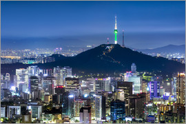 Jan Christopher Becke - View of the skyline of Seoul with Namsan Mountain and N Seoul Tower