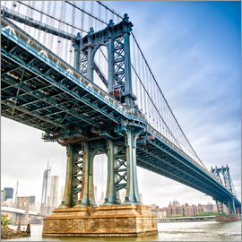 View of Manhattan Bridge  - New York City
