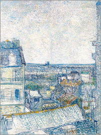 Vincent van Gogh - View from the Artist's Window, Rue Lapic