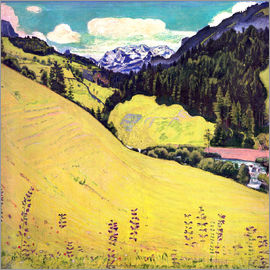 Ferdinand Hodler - View of the Blüemlisalp